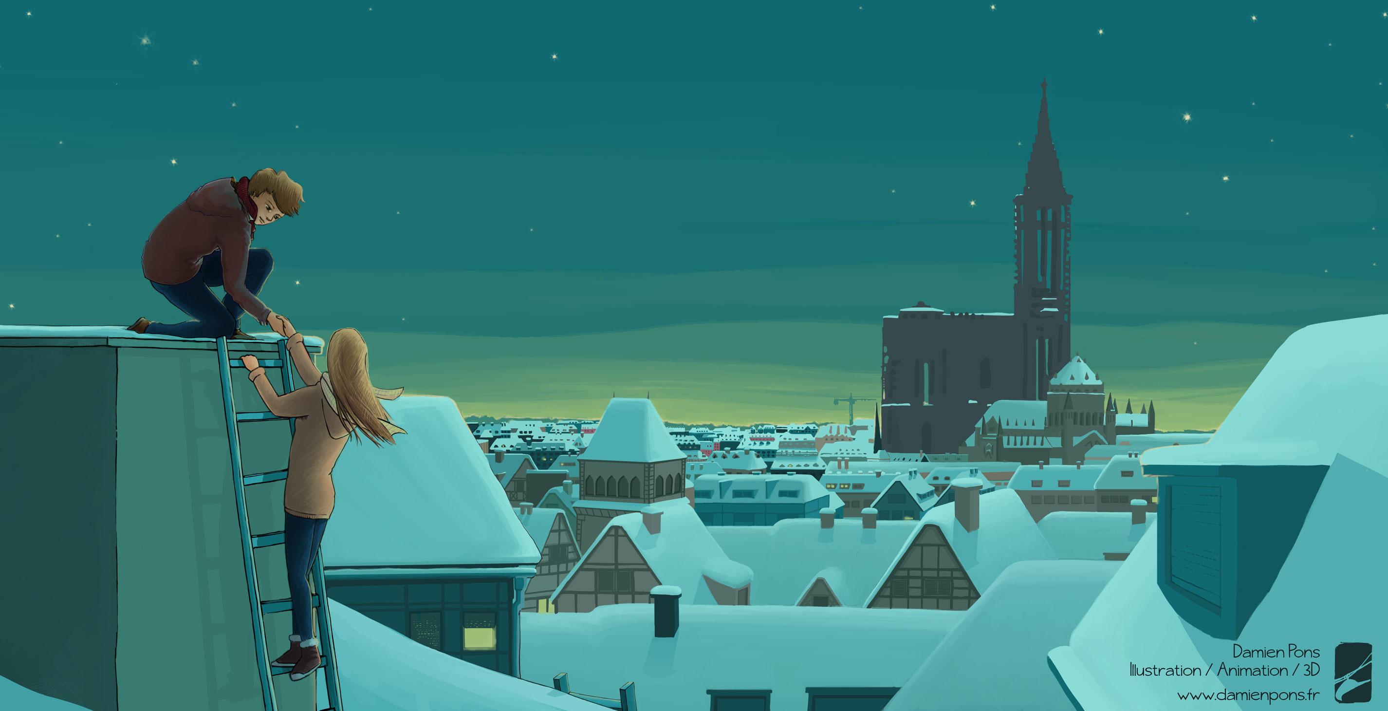 bonne année 2015 illustration Damien Pons
