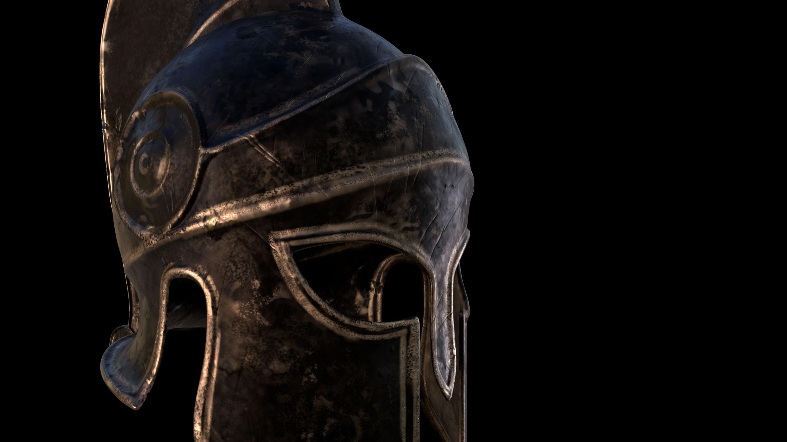 greek, helmet, 3D, model, blender, damien, pons, strasbourg, artiste 3D