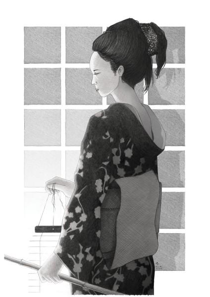 geisha, damien, pons, strasbourg, illustrateur